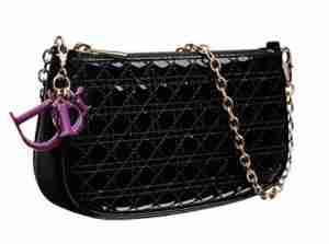 Dior-MINI-CANNAGE-black-patent-leather-chain-dinner-bag-2012_1