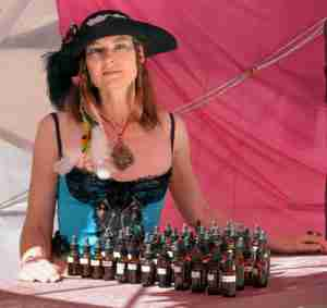 Amber Jobin's custom perfume offering at Burning Man, 2014