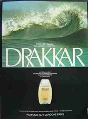 guy laroche drakkar advert