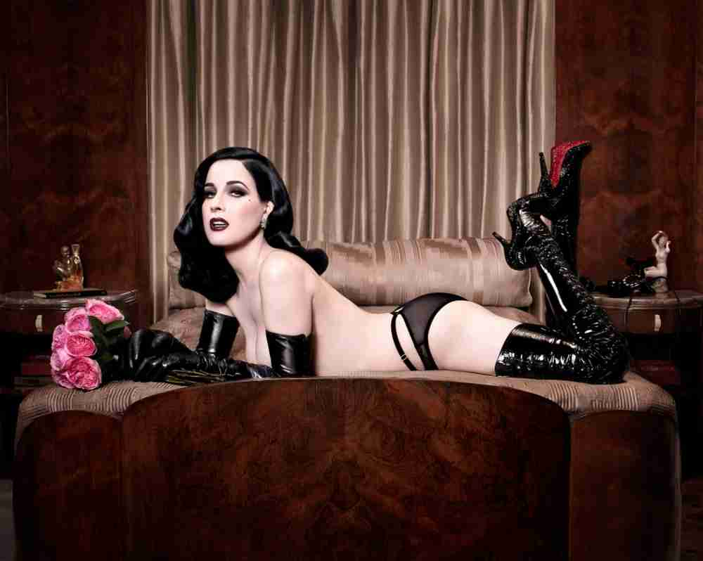 Ladies in leather gloves and boots - Dita Von Teese Boots